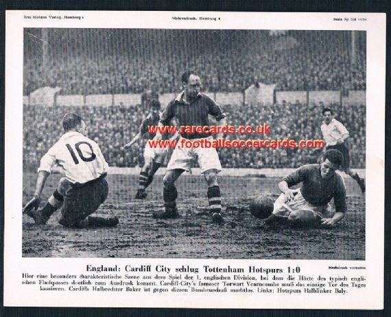 1954 Mohrendruck Cardiff City v Spurs German newspaper supplement